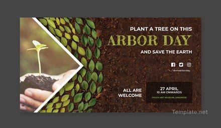 Free Arbor Day LinkedIn Blog Post Template