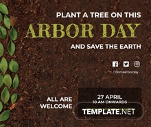 Free Arbor Day LinkedIn Blog Post Template
