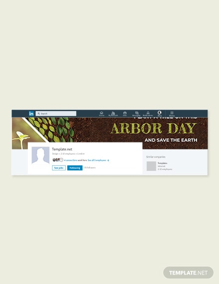 Free Arbor Day LinkedIn Company Cover Template