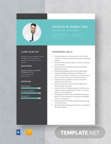 Assistant Facilities Manager Resume Template