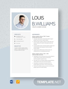 Athletic Academic Advisor Resume Template