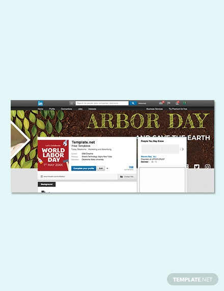 Free Arbor Day LinkedIn Profile Banner Template