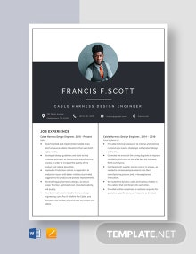 Cable Harness Design Engineer Resume Template