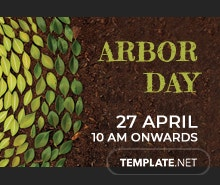 Free Arbor Day Pinterest Board Cover Template