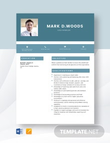Cash Handler Resume Template