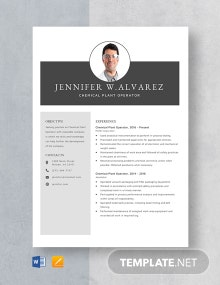 Chemical Plant Operator Resume Template