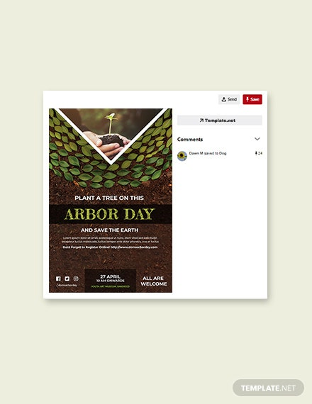 Free Arbor Day Pinterest Pin Template