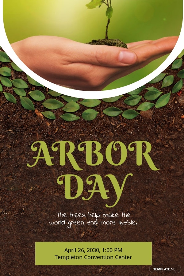 Arbor Day Pinterest Pin Template