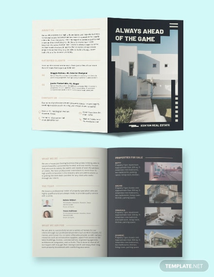 House/Home Community Bi-fold Brochure Template