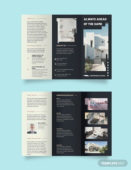 House/Home Community Tri-fold Brochure Template
