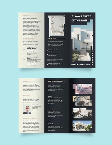 House/Home Community Tri-fold Brochure Template