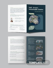 Island Vacation Bi-Fold Brochure Template