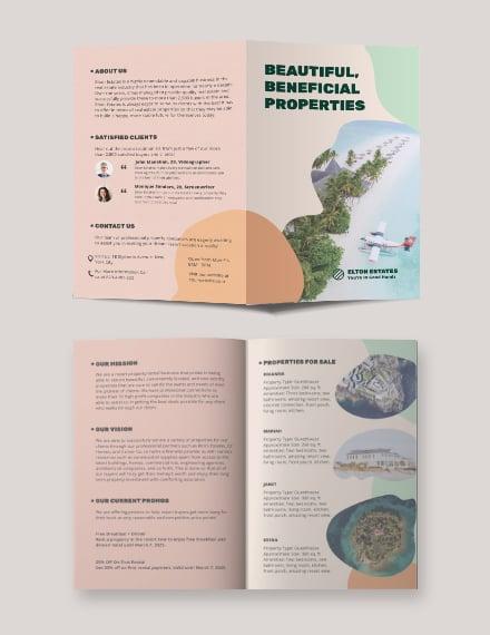Resort Vacation Rental Bi-fold Brochure Template