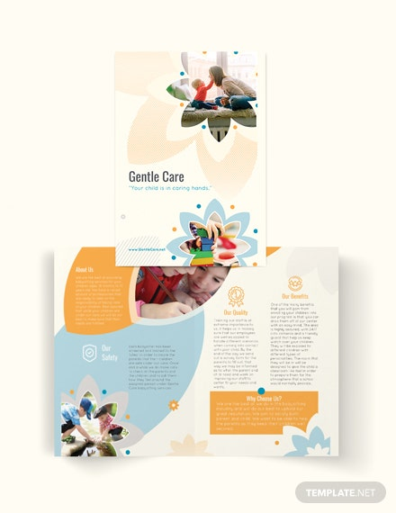 Babysitting Bi-Fold Brochure Template