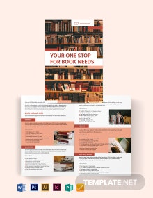 Book Bi-Fold Brochure Template