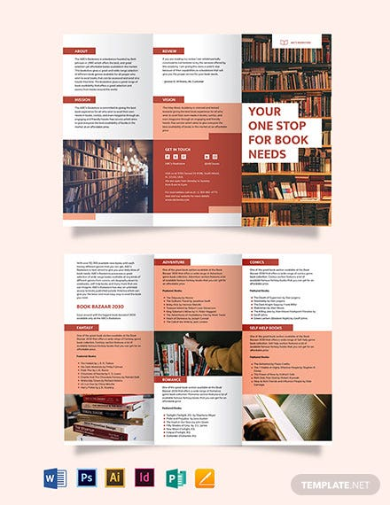 Book Tri-Fold Brochure Template