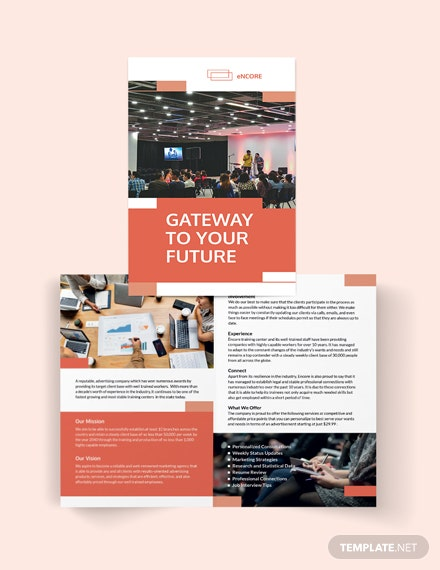 Corporate Training Bi-Fold Brochure Template