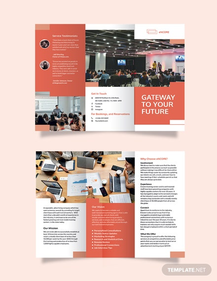 Corporate Training Tri-Fold Brochure Template
