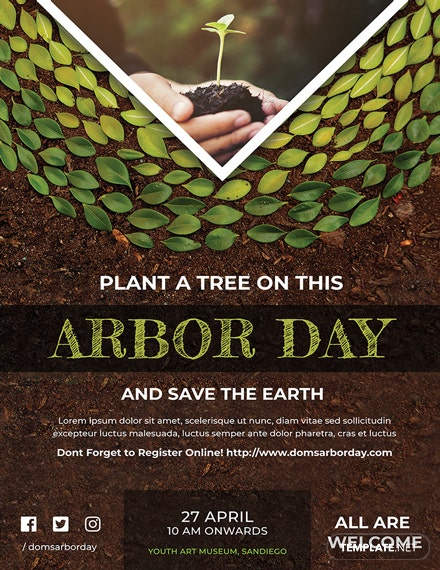Free Arbor Day Poster Template