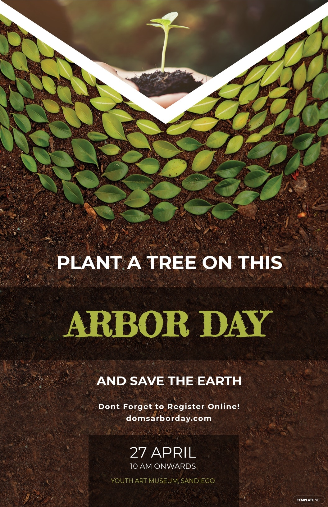 Arbor Day Poster Template