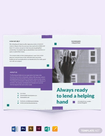 Domestic Violence Bi-Fold Brochure Template