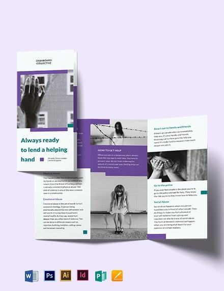 Domestic Violence Tri-Fold Brochure Template
