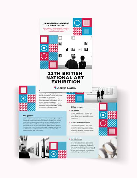 Exhibition Bi-Fold Brochure Template