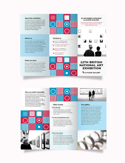 Exhibition Tri-Fold Brochure Template