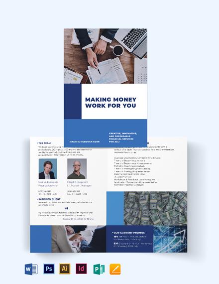 Financial Services Bi-Fold Brochure Template