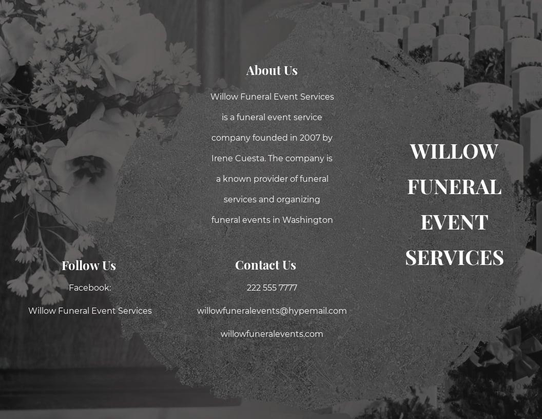 Funeral Event Tri Fold Brochure Template.jpe