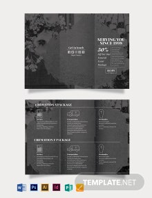 Funeral Event Tri-Fold Brochure Template