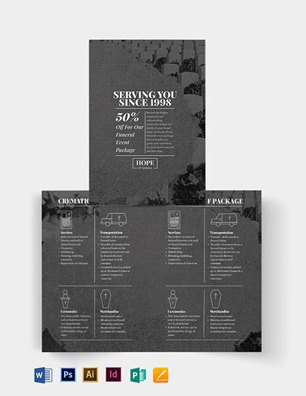 Funeral Event Bi-Fold Brochure Template