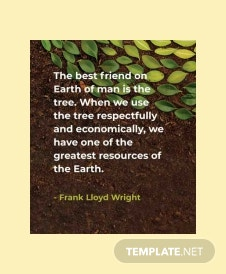 Free Arbor Day Quote Template