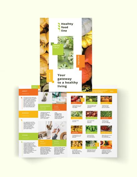 health nutrition bi fold brochure