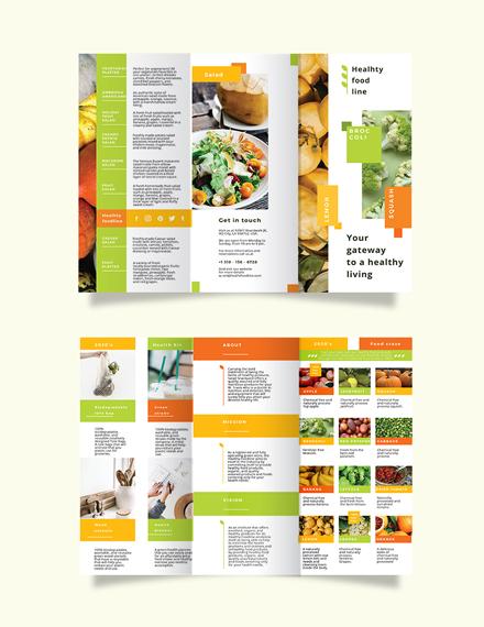 Health Nutrition Tri-Fold Brochure Template