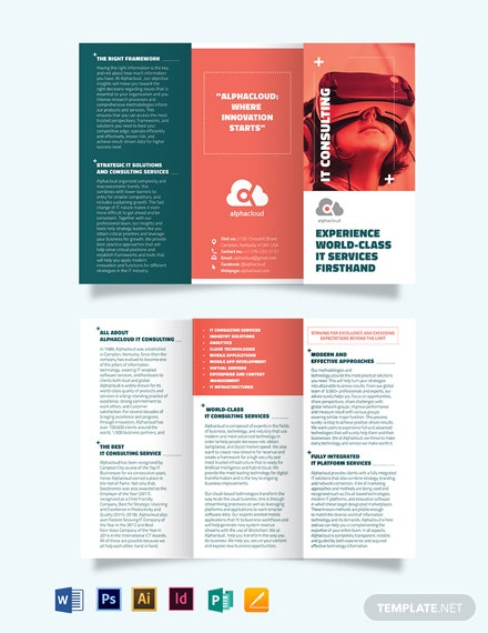 information technology consultants tri fold brochure