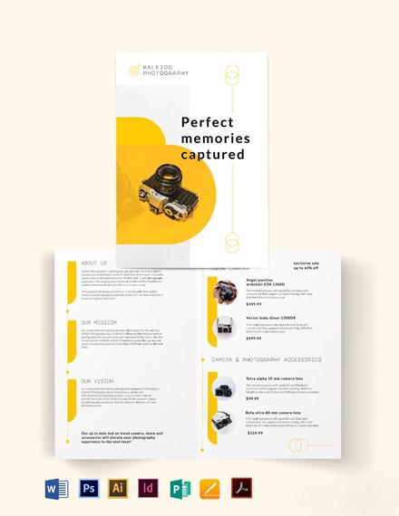 Sales Bi-Fold Brochure Template