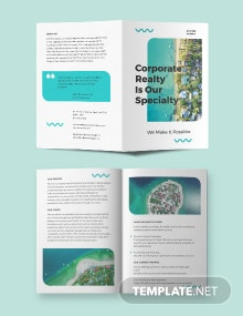 Vacation Rental Advertising Bi-fold Brochure Template