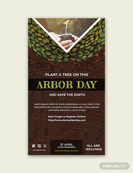 Free Arbor Day Snapchat Geofilter Template
