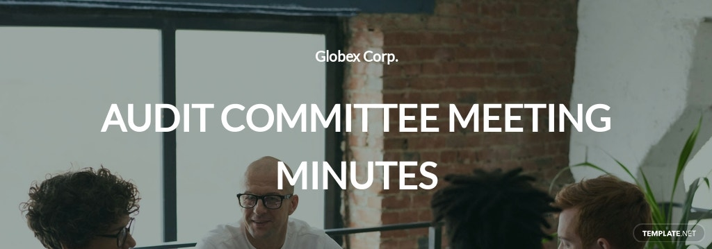 Audit Committee Meeting Minutes Template