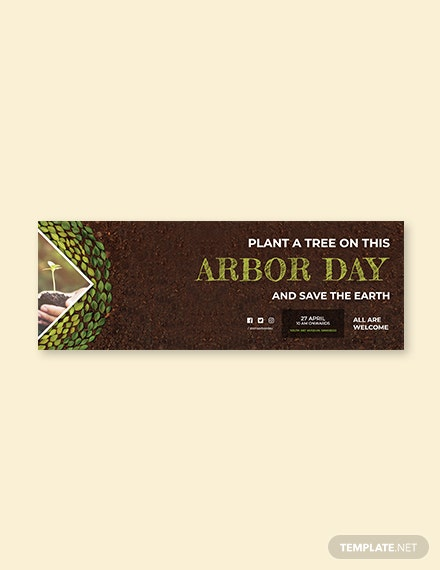 Free Arbor Day Tumblr Banner Template