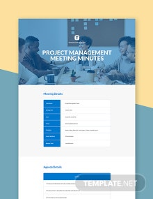 Project Management Meeting Minutes Template