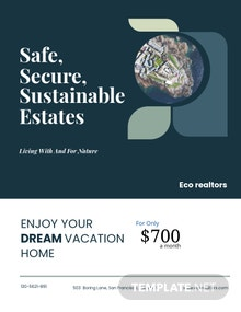 Island Vacation Flyer Template