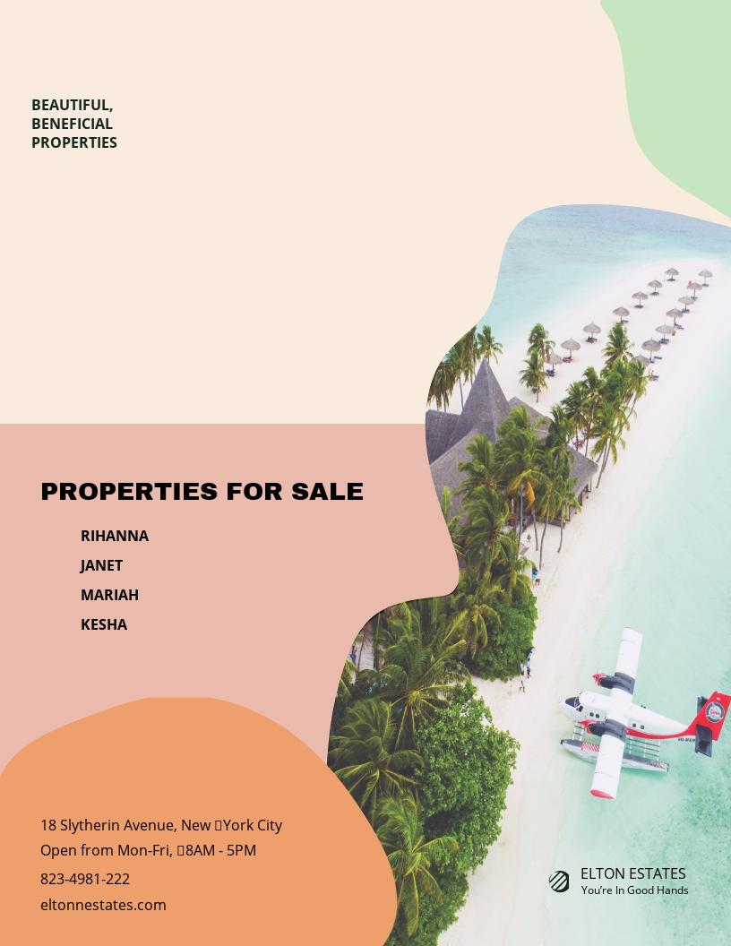 Resort Vacation Rental Flyer Template