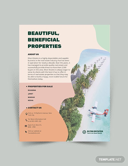 Resort Vacation Rental Flyer Template
