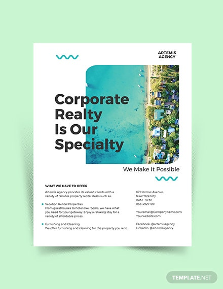 Vacation rental Advertising Flyer Template