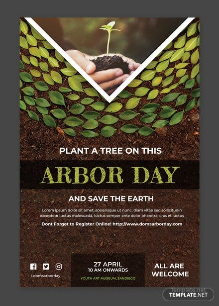 Free Arbor Day Tumblr Post Template