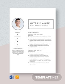 Chief Medical Officer Resume Template