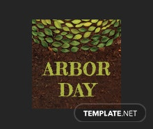 Free Arbor Day Tumblr Profile Photo Template