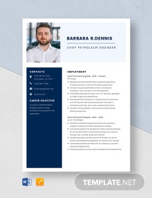 Chief Petroleum Engineer Resume Template